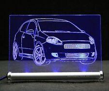 Fiat Grande Punto als  AutoGravur auf LED-Leuchtschild