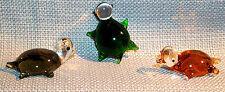 "Sea Turtle ArtGlass 506 MINI 1"" smooth shell FLIPPER LEGS assorted 6 pc.box lot"