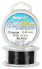 Black 26GA Round Craft Wire Jewelry Beading Wrapping Jump Rings 30 Yds
