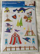 Boys Bedroom Wall Stickers ~ Nursery/Playroom ~ Medieval Knights/Dragons/Wizards