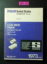 RCA Solid State DATABOOK COS/MOS Digital 1973 VINTAGE ELECTRONICS BOOK LOT L31