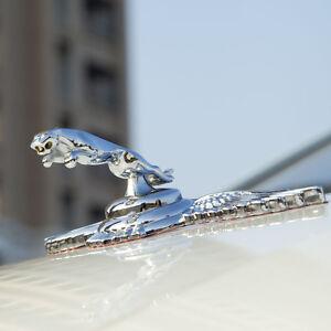 Chrome Metal 3D Car Badge Jaguar Hood Badge Leaping Head Emblem for XJR XJ6 XF