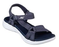 Skechers NEW On The Go 600 Brilliancy navy comfort strappy sandals sizes 3-8