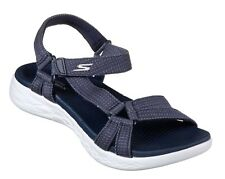 Skechers Sport Womens 2018 on The Go 600 Brilliancy Velcro Straps Sandals UK 4 Navy