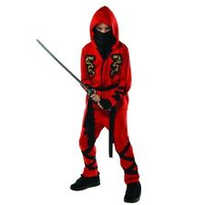 Fire Dragon Red Ninja Costume Child Boys Toddler 3-4 3T 4T