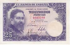 SIN SERIE BILLETE DE 25  PESETAS  1954