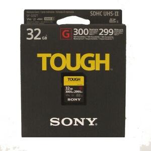 Sony TOUGH SD Card 32Gb - 300mb/s Toughest and Fastest SDXC Card