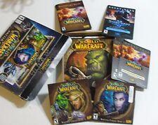 WORLD OF WARCRAFT Original Blizzard Computer Game BATTLE CHEST Set PC AND MAC