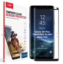 ZIZO TEMPERED GLASS Case Friendly Black Screen Protector For Samsung Galaxy S9+