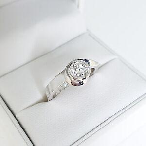 Handmade .40ct VS/G Diamond engagement ring, with lovely asymmetric scroll wrap