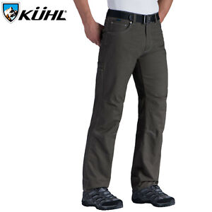 """KUHL Men's Rydr Pant 34"""" Inseam Mens Trousers Combed Cotton Hiking Cargo"""