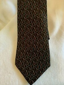 Stunning Salvatore Ferragamo Italian 100% pure silk penguin theme neck tie