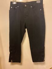 "Fabrizio Gianni Cropped Black Jeans Size 2 ""Cropped"""