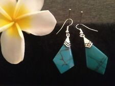 Turquoise Resin Fashion Earrings