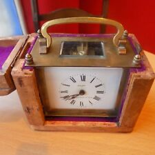 Eureka Brass French carriage Clock with Box