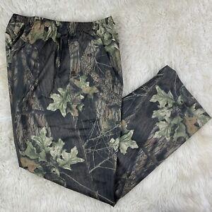 Columbia Mossy Oak Break Up PVC Nylon Pull On Rain Pants Size L Large Hunting