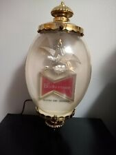 Vintage Budweiser Lighted Advertising Sign Wall Sconce