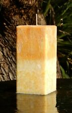 200hr YELLOW SOLAR PLEXUS Chakra Square CANDLE Scented Lychees & Peony Flowers