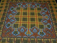 """GEOMETRIC PATTERNED - LIGHTWEIGHT POLYESTER - 46"""" SQUARE - ITALIAN SHAWL SCARF"""