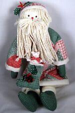 Handmade Soft Santa Doll Sweet Face Patchwork Coat & Hat Sunset Kit 1990 A.JETT