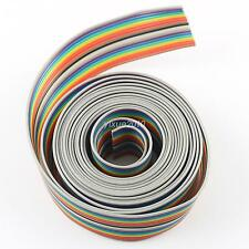 2M Meter 1.27mm Pitch 18 Way Wire Conductor Rainbow Color IDC Flat Ribbon Cable