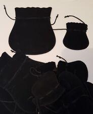 Lot de bourses velours noir pour bijoux