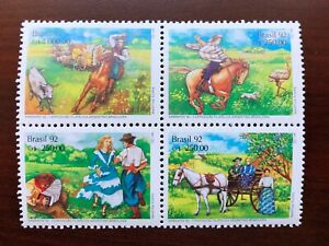 Brazil 1992 Scott #2358a Block of 4 Philatelic Exhibition Mint NH