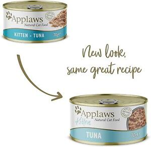 Applaws Natural Wet Kitten Cat Food, Tuna in Jelly Tin, 70 g (Pack of 24) Fish