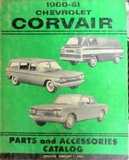 1960-1961  CHEVROLET CORVAIR PARTS ACCESSORIES CATALOG PIECES DETACHEES
