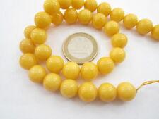 1 filo di agata giallo scuro cabochon di 10 mm lungo 39 cm 39 pietre