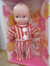 """Vintage 11"""" Cameo """"Kewpie Sleeper"""" red & white pajamas- new in unopened box"""