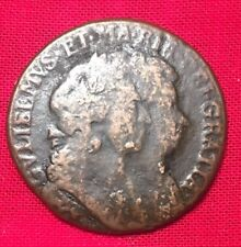 1694 William and Mary Irish Halfpenny Copper Conjoined Bust, Scarce, BetterGrade
