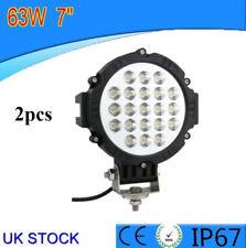 2x 63 W brillante LED coche Carretilla Elevadora Offroad trabajo Conducción Luz de niebla lámpara de haz puntual Nuevo