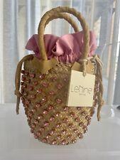 LE NINE ITALY small pink crystal basket bag  - (RRP $550) NWT