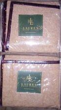 NEW Ralph Lauren Brittany Tweed (Brown Cream) (2) Standard Shams Wool Farmhouse