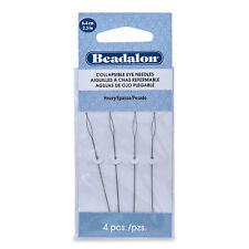 Beadalon Collapsible Eye Needles, 2.5 in (6.4 cm), Heavy, 4 pc