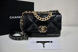Chanel 19 Bag Classic Small Size Goat Leather