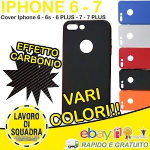 Cover Apple iPhone 8 8 PLUS 7 7 plus 6 6s 6 plus EFFETTO CARBONIO Case Custodia