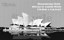 TOYBRICK - DIY Custom Mosaic Art 96x144 or 144x96 STUDS - Monochrome Style