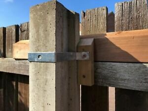 Solid Concrete Post Fixing fences to 75mmx75mm solid or slotted posts godfather