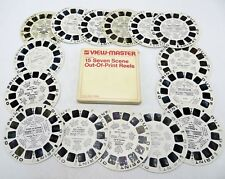 View-Master Lot of 15 Out-Of-Print Reels, Vintage Sears Packaging