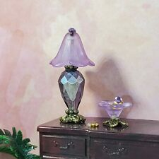 Miniature Dollhouse Lamp, Side End Table Living Room Light 1:24 Half Inch Scale