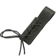 Small Leather Medieval Sword Frog - Sword Belt Hanger, Black, Made in USA 22622