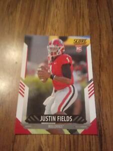 2021 Score Justin Fields Rc NM Georgia Bulldogs Chicago Bears