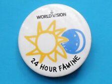 WORLD VISION 24 HOUR FAMINE PLASTIC BADGE CHARITY INTEREST 1990'S?