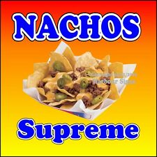 Nachos Supreme DECAL (Choose Your Size) Concession Food Truck Sign Sticker