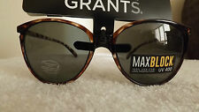 Foster Grants DISARMING Max Block CLASSIC CATS EYES Sunglasses HAVANA BROWN