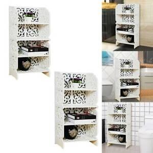 4 Tiers Shoe Rack Storage Shelf Display Stand Organiser Unit Cabinet White