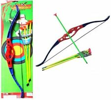 NEW CHILDRENS KIDS SUPER ARCHERY BOW AND ARROW SET  OUTDOOR GARDEN TOY FUN GAME
