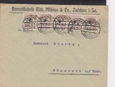 F /  Brief / d. Reich Infla 326 MeF Zwickau - Pössneck